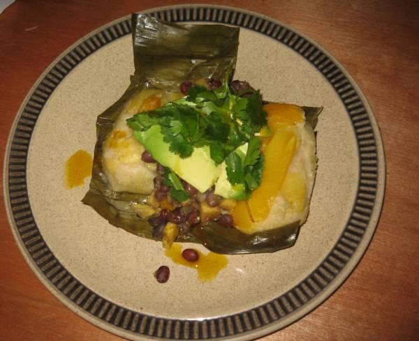 Nutshell papaya tamales