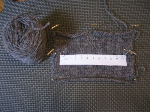 Test knitting