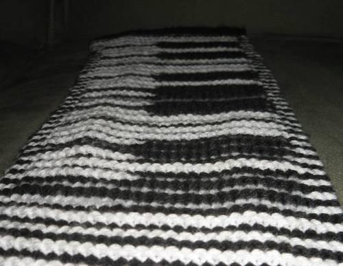 Piano Illusion Scarf